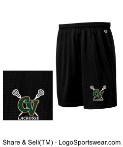 Adult Champion Polyester Mesh Shorts With 9 Inch inseam Design Zoom